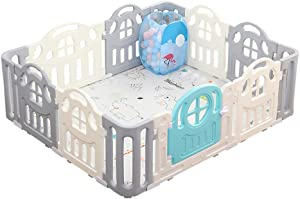 ZXRET Baby Play Fence Children Indoor And Outdoor Play Fence Children Learning Climbing Fence School Playground Equipment  12 Panels