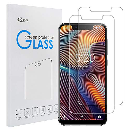 Qoosea Compatible with UMIDIGI A3 Pro Screen Protector [2 Pack] Ultra-Thin 2.5D 9H Anti Scratch Hardness Crystal HD Clear Scratch Resistant Tempered Glass Film for UMIDIGI A3 Pro