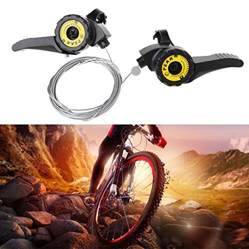 Lergo Fahrrad Schalthebel Speed 15/18/21 Universal Hebel Mountainbike mit Kabelauslöser - 3