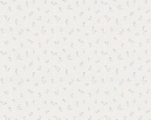 A.S. Création Vliestapete Liberté Tapete Landhaus Shabby Chic 10,05 m x 0,53 m blau rosa weiß Made in Germany 305232 30523-2
