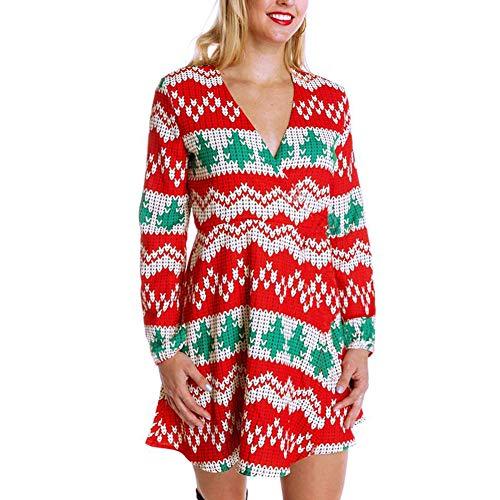 Mirage Kerst Rok, Vrouwen Plaid Kerstboom Print Knie-lengte Jurk Kerst Kostuum, Kerst Decoraties voor Kerstavond, Kerstmis, Feest, Winkelen etc