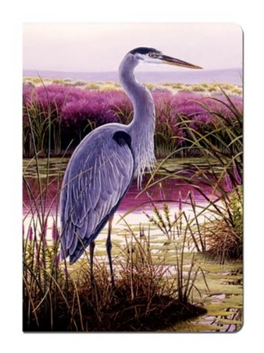 Tree-Free Greetings Journal, 160 Ruled Pages, Recycled, 5.5 x 7.5 Inches, Great Blue Heron, Multi Color (72095)