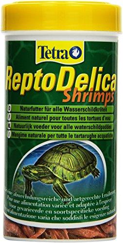 Tetra ReptoDelica Shrimps Naturfutter (für alle Wasserschildkröten, ganze Shrimps, als Ergänzungsfutter oder Leckerbissen), 250 ml Dose