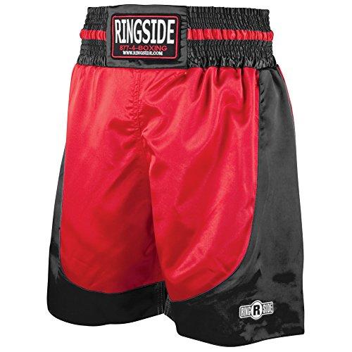 Ringside PRO-Style Kickboxing Muay Thai MMA Training Palestra Abbigliamento Pantaloncini Boxe Trunks, Uomo Donna, PST RD.BK.Med, Red/Black, M