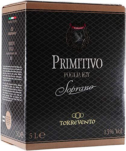 Rotwein Italien Primitivo Puglia IGT Soprano Bag in Box trocken (1x5L)