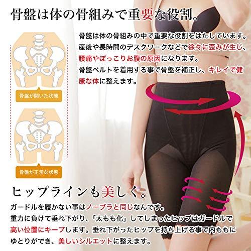 SARABEAUTY骨盤ガードルぽっこりお腹から太ももまで気になる下半身をトータルメイク(ブラック,M~L)