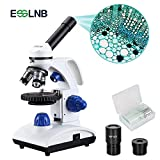 ESSLNB Microscopio Profesional 40X-1000X Microscopio Optico con Perilla de Enfoque Coaxial Grueso / Fino Metal Ocular (WF10X/25X) Muestras Lámpara Led