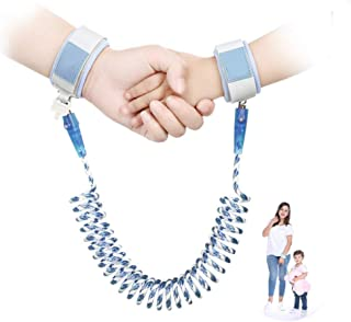 Toddler Leash Anti Lost Toddler Wrist Leash, Breathable Wristbands 1.5m/ 2m/ 2.5m 360°Rotate Night Vision Toddler Harness Safety Leashes Child Leash, Blue
