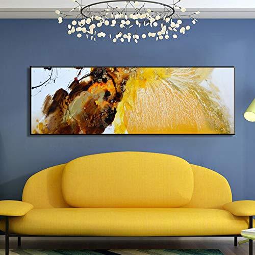 N / A Los Carteles de Lona de Pintura al óleo Abstracta Minimalista Moderna y los murales de impresión se utilizan para la decoración de la Sala de imágenes sin Marco 50x150cm