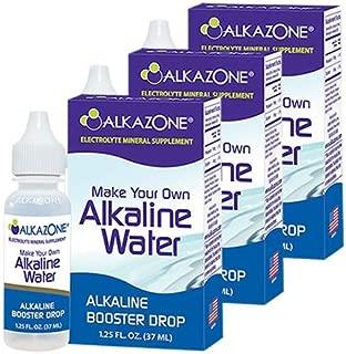 Alkazone Alkaline Water Drops Make Your Own Alkaline Water/Alkaline Booster Drop (3 Pack)