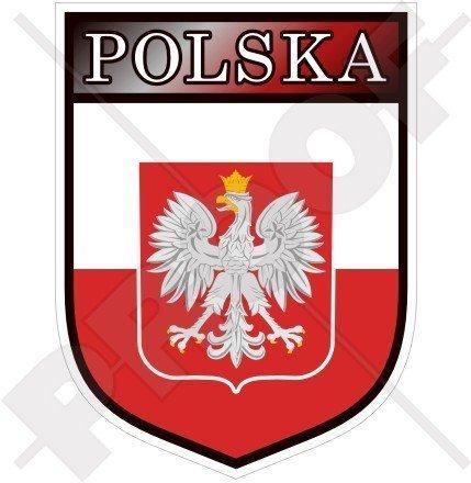 POLEN Polnischer POLEN Schild 100mm Auto & Motorrad Aufkleber, Vinyl Sticker