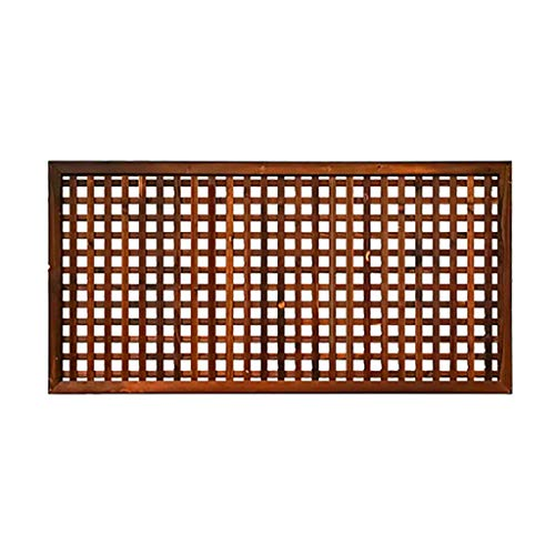 QBZS-YJ Wooden Fence Trellis Framed Panels Climbing Plant Garden Wall Diamond Plant Patio Fence Partition Flower Stand