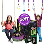 Product Image of the Trailblaze - Ninja Warrior Hanging Obstacle Course for Kids, 50 Feet Ninja...