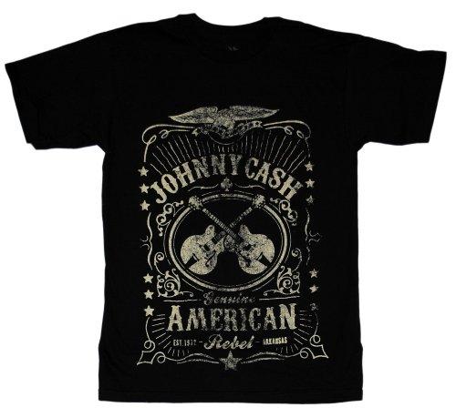 Johnny Cash American Rebel Label Adult T-Shirt L