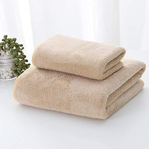 Toallas de baño Set de toalla de color sólido de 3 piezas 70x140cm Tallas de gran tamaño para la piel Toallas de baño Cara de las toallas para el baño adulto Ducha ( Color : 1 , Size : 3 pcs towels )