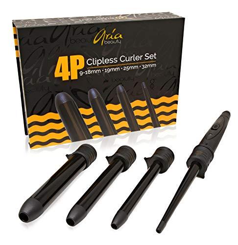 Aria Beauty 4P full curler set ,13mm,19mm,25mm,32mm