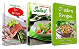 Incredibly Delicious Cookbook Bundle: Healthy Chicken, Beef and Salad Recipes from the Mediterranean Region: Frugal Cooking on a Budget (Healthy Cookbook Series 15)