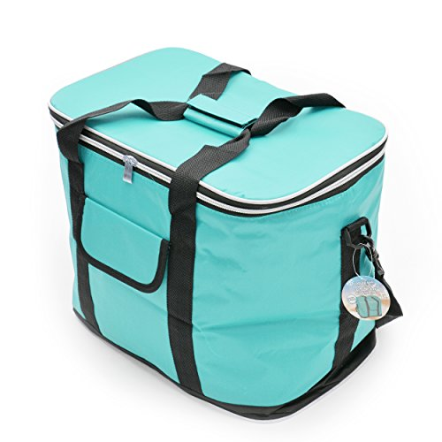 Ocean 5 XXL Kühltasche 30L mit Tragegriffen und Schultergurt - isolierte Faltbare Kühlbox, Isoliertasche für Picknick, Camping, Reisen, Einkauf