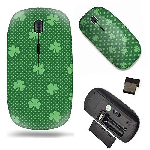 S-Type Optical 2.4G Wireless Mouse with Nano Receiver - Shamrock Clover Leaf