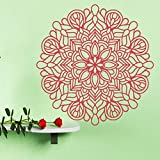 Boho   Flower Tatuajes de pared Lotus Decor   Room Decal   Room ViniloAdhesivo de pared Dormitorio Decoración Accesorios C435