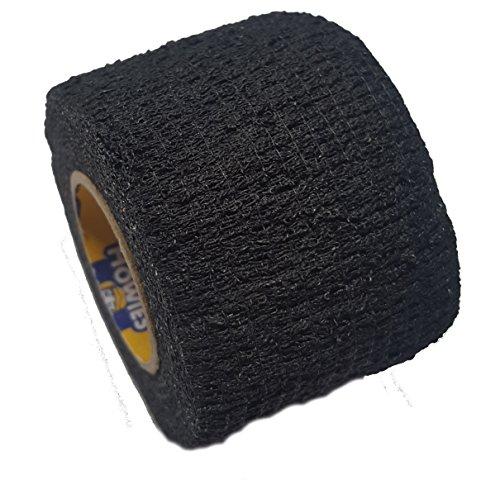 Howies Schlägertape Profi Stretch Grip Hockey-Tape, Griptape (schwarz), 4,57 m
