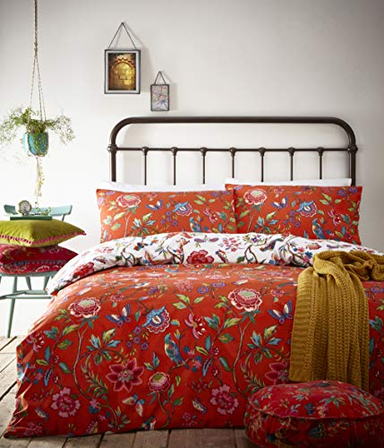 Creative Cloth Pomelo Duvet Set, Polycotton, Orange, Double
