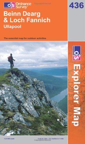 OS Explorer map 436 : Beinn Dearg & Loch Fannich