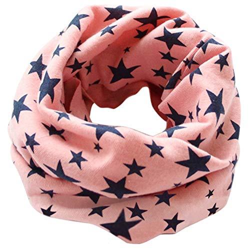 CHOUREN Naszyjnik wisiorek dziecięce gwiazdy apaszka dzieci chłopiec dziewczynka szaliki, kolor: niebieski wodny (kolor: różowy)
