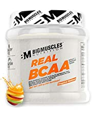 Bigmuscles Nutrition Real BCAA [50 Servings, Tropical Madness] -100% Micronized Vegan, Muscle Recovery & Endurance BCAA Powder, 5 Grams of Amino Acids, Keto Friendly, Caffeine Free