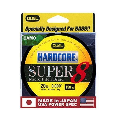 Yo-Zuri Hardcore Super 150 Yd Floating Braid, Camo, 20 lb