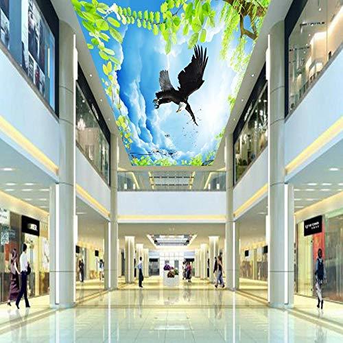 ZJfong Aangepaste muur muurschildering op maat Sky Leaf Dandelion Plafond Fresco Woonkamer Hotel Hall Zenith Wallpaper Mural 330x210cm
