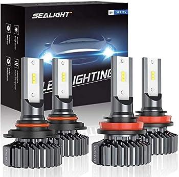 4-Pack Sealight 9005/HB3 H8/H11 LED Headlight Bulbs