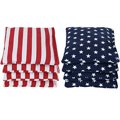 Weather Resistant Cornhole Bags (Set of 8) by SC Cornhole:: Choose Your Colors (Stars/Stripes)