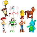 Pantyshka Toy Story Toys – Set of 7 Action Figures with Woody, Buzz and Jessie – Premium Animated Collection with Keychain Included – Fun Party Supplies for Toddlers – Cake Topper Set for Birthday