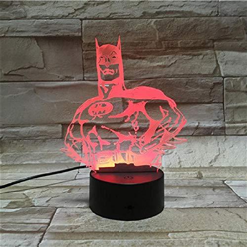 XQFZXQ 3D Ilusión óptica Lámpara Cristo jesus cruz LED Luz de noche