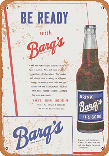 Tamengi 12''x18''Metal Sign 1946 Barq's Root Beer Vintage Look