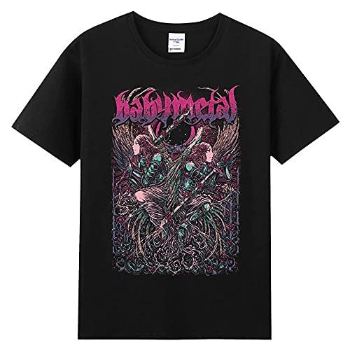 PIKANCHI Tシャツ babymetal ロック アメリカ 流行 欧米風 音楽 プリントTシャツ 夏服 トップス 半袖 無地 通気性 ファッション ゆったり 男女兼用