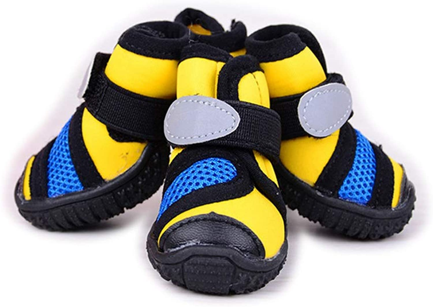 Huayue Dog shoes, NonSlip Soh, Pet shoes (color   Yellow, Size   L)
