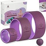 OVERMONT Juego de Ruedas de Yoga, Paquete de 3 tamaños Rodillos de Espuma de Yoga, Dolor de...