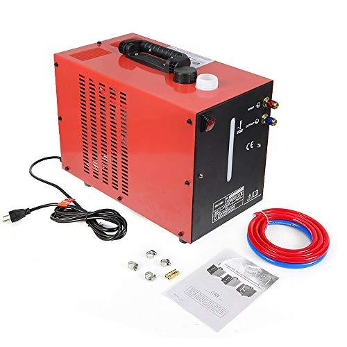 10L 370W Schweißkühlwassertank, Wasserkühler Schweissgerät TIG WIG MIG Kühler Wasser Kühlung, Rot
