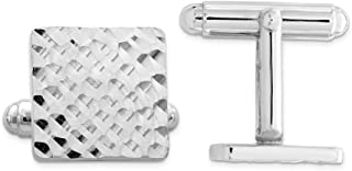 925 Sterling Silver Square Cuff Links Mens Cufflinks Link Man Fine Jewelry For Dad Mens Gifts For Him