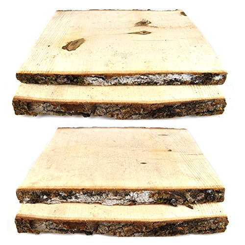 Woodlandia Basswood Plank 11 Inches Long x 7-9 Inches – 4 Pack
