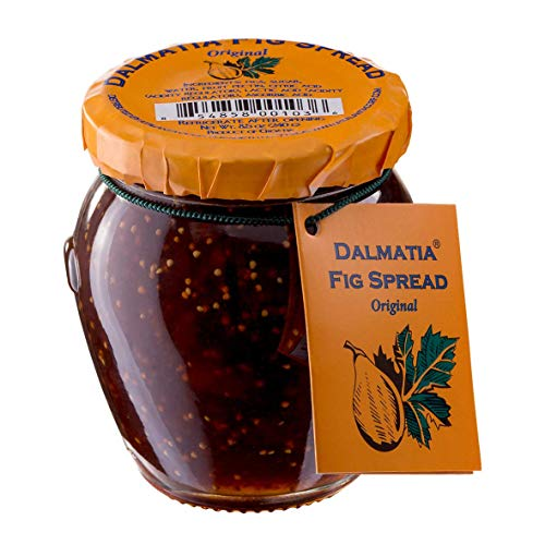 Original Fig Spread by Dalmatia Small Batch Made with Hand Picked Croatian Figs 8.5oz - Four Pack - Award Winning Gluten Free and Non-GMO Great with Cheese Plates Toast with Yogurt and More
