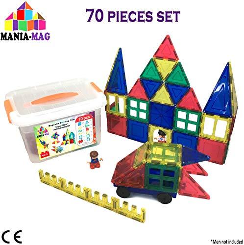 Amosting Magnétique Blocs Pour Enfants 56 Pcs Aimant Construction Tuiles Bloc constructi
