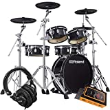 Roland V-Drums Acoustic Design VAD306 Electronic Drum Set 5-Piece Electronic Drum Set with Mesh Heads, 4 x Cymbals, and TD-17 Sound Module with Gravity Phone Holder and Pro Headphone Bundle