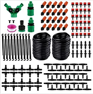 Toppart 30m hose automatic micro-flow drip irrigation system kit for garden outdoor terrace garden fog cooling irrigation ...