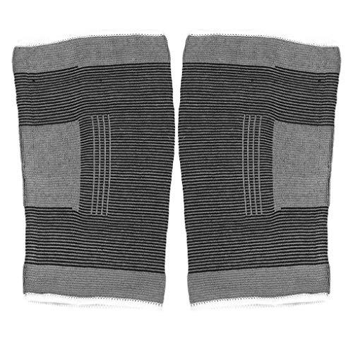 Yihaifu 1 Paar Sport-elastische Knie Unterstützung Klammer Basketball-Klammer atmungsaktiv Feuchtigkeit Wicking Basketball Knee Guard Schutz Band