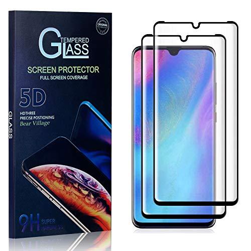 Bear Village Displayschutzfolie für Huawei P30 Pro, Ultra klar Schutzfilm aus Gehärtetem Glas, Anti Kratzen Displayschutz Schutzfolie für Huawei P30 Pro, 2 Stück