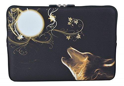 MySleeveDesign Laptoptasche Notebooktasche Sleeve für 10,2 Zoll / 11,6-12,1 Zoll / 13,3 Zoll / 14 Zoll / 15,6 Zoll / 17,3 Zoll - Neopren Schutzhülle mit VERSCH. Designs - New Moon [11-12]