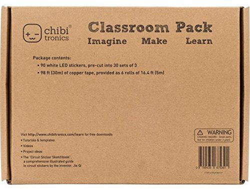 Chibitronics Klassenzimmer-Aufkleber, Weiß, 90 Stück